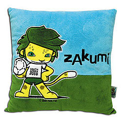 Official World Cup Zakumi Mascot Pillow