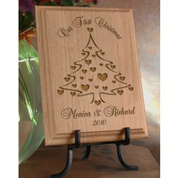 Personalized Christmas Tree Wooden Plaque