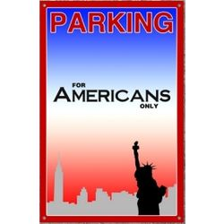 American Skyline Parking Sign