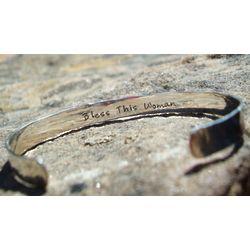 Secret Message Cuff Bracelet in Sterling Silver