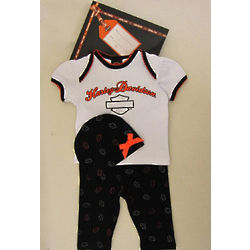 Harley Davidson Newborn Girls Gift Set