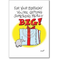 Something Big Birthday Card