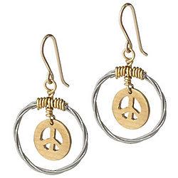 Peace Cymbal Earrings