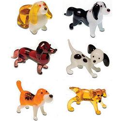 Glass Figurines Dog Set