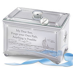 Reflections of a Son's Shining Future Personalized Music Box