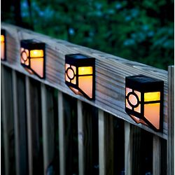Mission-Style Solar Deck Accent Lights
