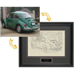 PhotoEtch Personalized Framed Art from Photo