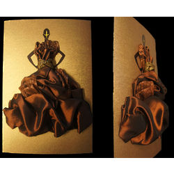 Hestia 3 Dimensional Couture Dress Invitation or Greeting Card