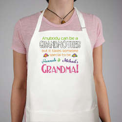 Anybody Can Be a Grandmother Personalized Apron
