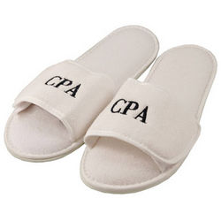 Personalized Men's White Slippers