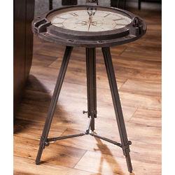 Vintage Clock Tripod Table