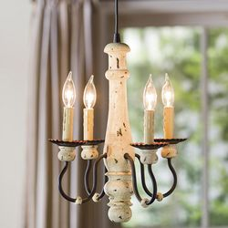 Four-Candle Chandelier Screw-In Pendant Light