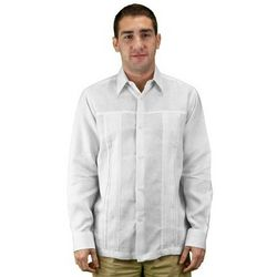 Men's Pure White Linen Wedding Shirt