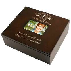 Holy Cross Personalized Memorial Box