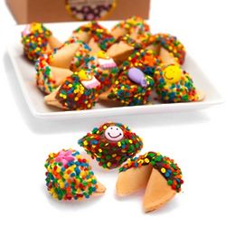Dozen Birthday Dipped Gourmet Fortune Cookies