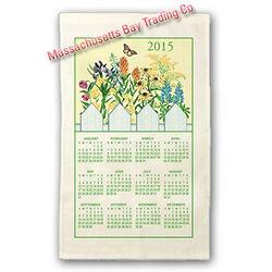 2015 Wildflowers Calendar Towel