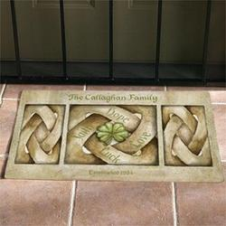 Personalized Celtic Knot Doormat