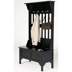 Entryway Hall Tree with Storage Bench