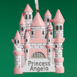 Personalized Castle Ornament