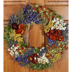 "18"" Tuscan Harvest Preserved Wreath"