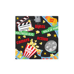 Lights, Camera, Action Beverage Napkins