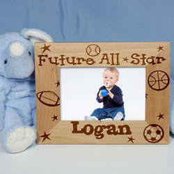Future All-Star Personalized Wood Picture Frame