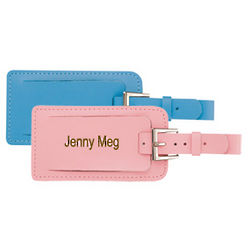 Personalized Leather Buckle Luggage Tag