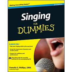 Singing For Dummies 2nd Edition Book with CD