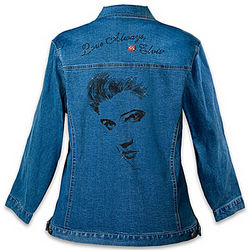Elvis Women's Love Always Denim Jacket