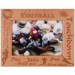Personalized Football Alderwood Frame