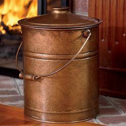 Double-Bottom Galvanized Steel Ash Bucket with Handle