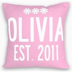 Name and Year Personalized Pillow
