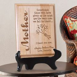 Personalized Wooden Mother Plaque