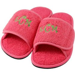 Hot Pink Personalized Slippers