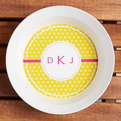 Polka Dot Fun Personalized Melamine Bowl