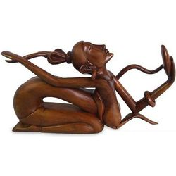 Sensual Beauty Wood Statuette