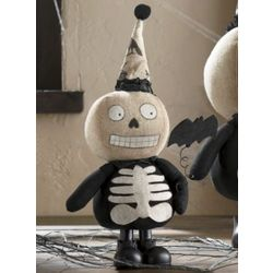 Plush Skeleton Bat Boy