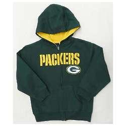 Packers Boy's Green Full-Zip Sportsman Hoodie