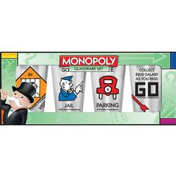 Monopoly Pint Glasses