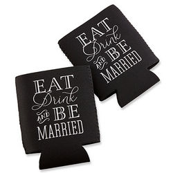 Eat, Drink and Be Married Koozies