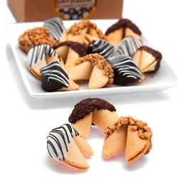 Dozen Hand-Dipped Gourmet Fortune Cookie Gift Box