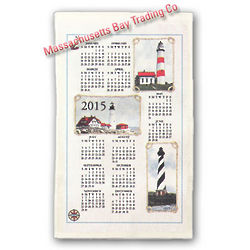 2015 Lighthouses Calendar Towel