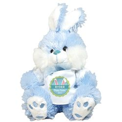 Personalized Bunny Ears Blue Easter Bunny Stuffed Animal