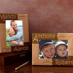 "Personalized ""You Say, I Say "" Wooden Picture Frame"
