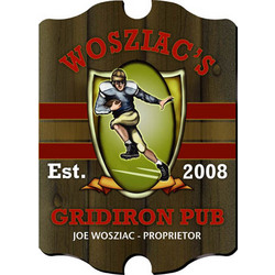 Vintage Personalized Gridiron Pub Sign