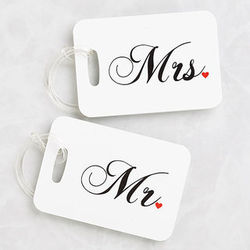 Mr. and Mrs. Collection Luggage Tags