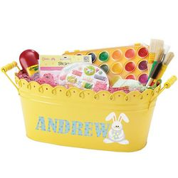 Personalized Colorful Metal Easter Tub