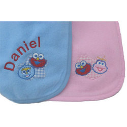 Personalized Sesame Street Fleece Blanket