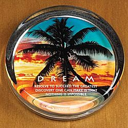 Dream Beach Positive Outlook Paperweight