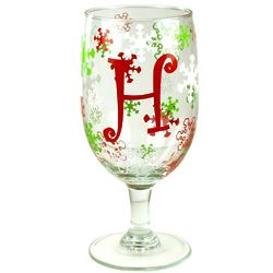 Personalized Winter Wonderland Holiday Goblet